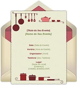 Modelos Convite Chá De Cozinha Online Convites Chá De Panela