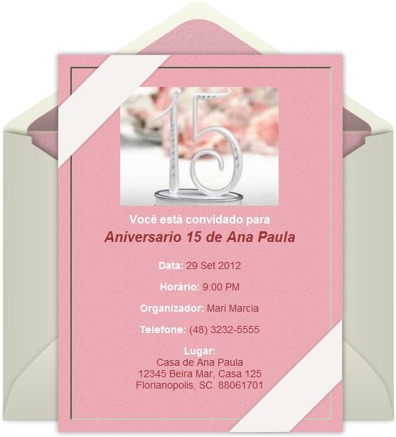 Modelos De Convites Aniversario Virtual Gratis